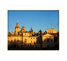 Rooftops of Whitehall, London Art Print