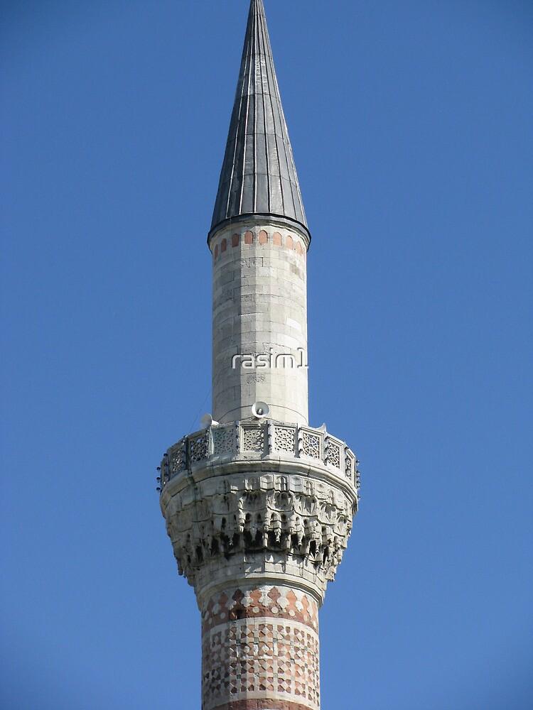 A minaret of Bayezid Mosque by rasim1