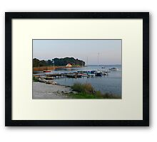 Tranquil waters Framed Print