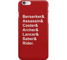 Fate Servants iPhone Case/Skin