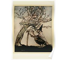 English Fairy Tales by Flora Annie Webster Steel art Arthur Rackham 1922 0161 Tree of Mine, Have You Seen My Naughty Little Maid Poster