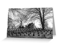 The Gothic Chapel at Crown Hill Greeting Card