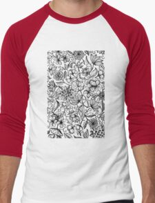 Her Paper Garden Men's Baseball ¾ T-Shirt