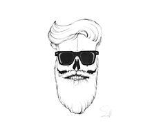 Ray's bearded skull by Bigfatbird