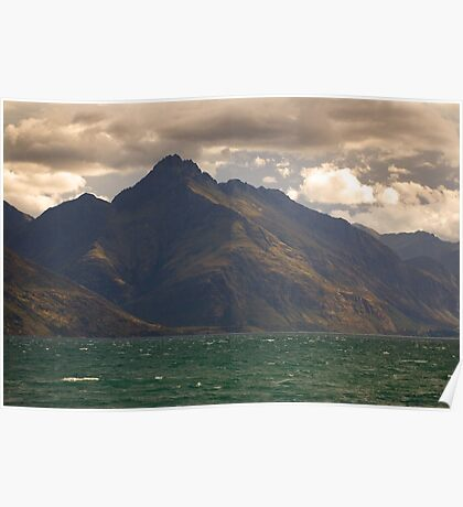 Red Sky, Blue Mountain, Green Sea Poster