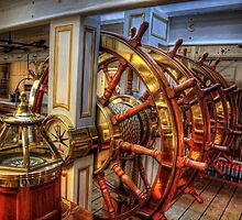 The Helm of the HMS Warrior by NeilAlderney