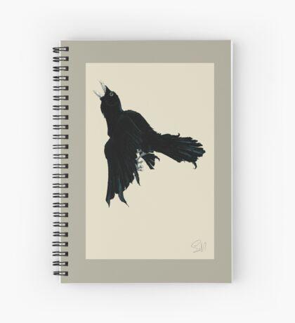 Black Raven Spiral Notebook