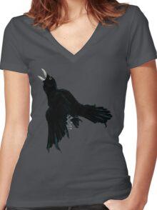 Black Raven Women's Fitted V-Neck T-Shirt