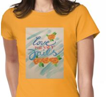 Love Never Fails Womens Fitted T-Shirt