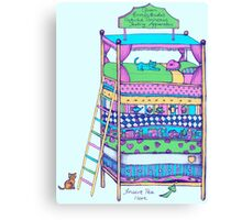 Queen Ermintrude's Patented Princess Testing Apparatus Canvas Print