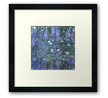 Monet - Blue Waterlilies Framed Print