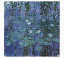 Monet - Blue Waterlilies One Piece - Long Sleeve