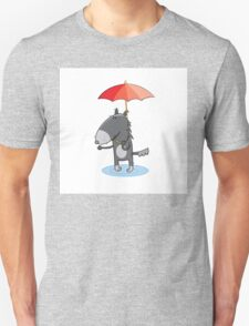 Wolf under an umbrella. T-Shirt
