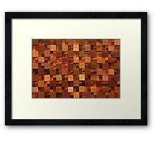 Wooden Seamless Texture Framed Print