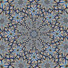 Blue Snowflakes Abstract by MaeBelle