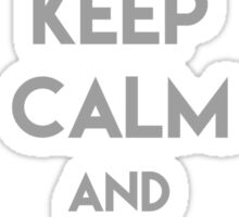 Keep Calm and Stay Whelmed Sticker