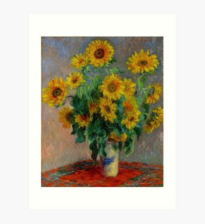 Monet - Sunflowers Art Print