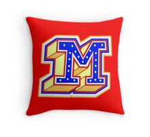 It's the letter 'M'! Throw Pillow