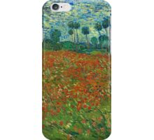 Van Gogh - Field of Poppies iPhone Case/Skin