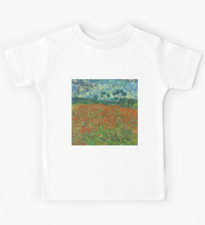 Van Gogh - Field of Poppies Kids Tee
