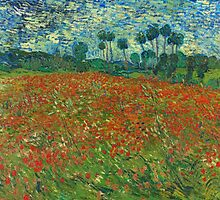 Van Gogh - Field of Poppies by Chunga
