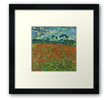Van Gogh - Field of Poppies Framed Print