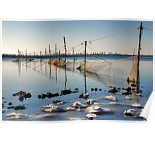 Fishing nets in Lake Veere Poster