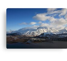 Ben Nevis in January Canvas Print