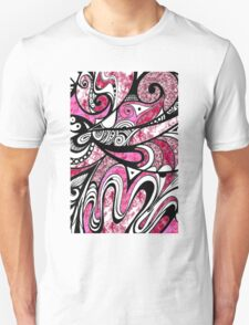 Doodle in Pink Unisex T-Shirt