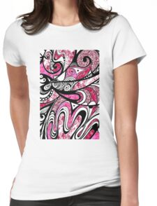 Doodle in Pink Womens Fitted T-Shirt