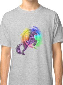 Sparkly Glittery Purple Unicorn And Rainbow Classic T-Shirt