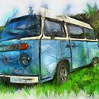VW Camper Bay Digital Sketch by tallview