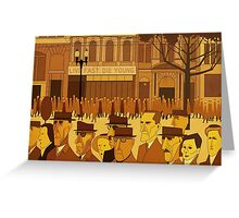 Collins Street, 5pm Live Fast, Die Young Greeting Card