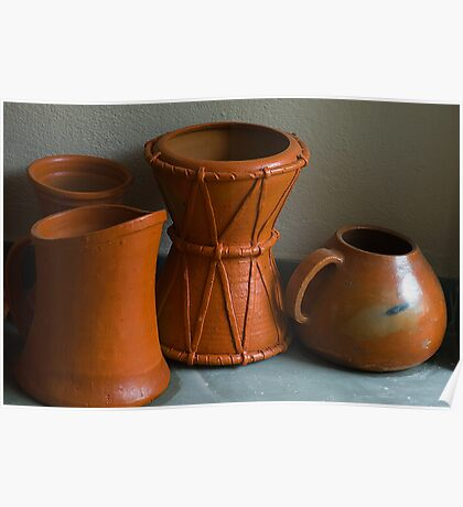 Shapes & Patterns in Earthen Pots. Poster
