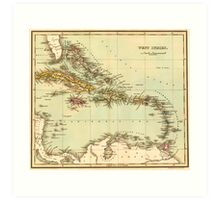 Antique Map of the West Indies Art Print