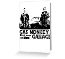 gas monkey garage shiluet retro Greeting Card