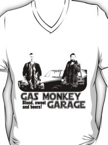 gas monkey garage shiluet retro T-Shirt