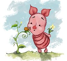 Winnie the Pooh - Baby Piglet by Leanne Huynh