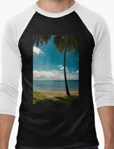 Tropical Landscape Men's Baseball ¾ T-Shirt