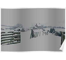 Real Snow on the Moors Poster
