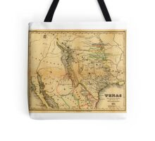 Antique Map of Texas, 1846 Tote Bag
