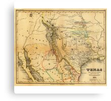 Antique Map of Texas, 1846 Metal Print