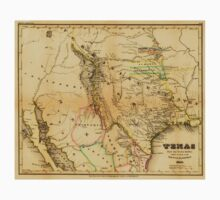 Antique Map of Texas, 1846 One Piece - Short Sleeve