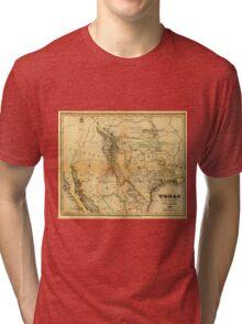 Antique Map of Texas, 1846 Tri-blend T-Shirt