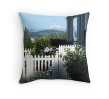 A Garden with a View Throw Pillow
