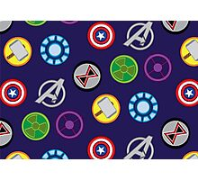 Avengers Pattern #1, blue variant  Photographic Print
