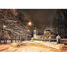 Winter Church Photographic Print
