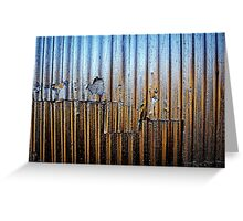 From Blue To Rust Greeting Card