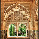 Granada. Mirador de Daraxa (1354-1359) desde la sala de las Dos Hermanas. by josemazcona