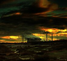 Ferrybridge Sunset by chrismcloughlin